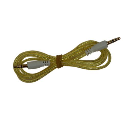 Sparkly 1 Meter Jack till Jack AUX-Kabel (Guld)