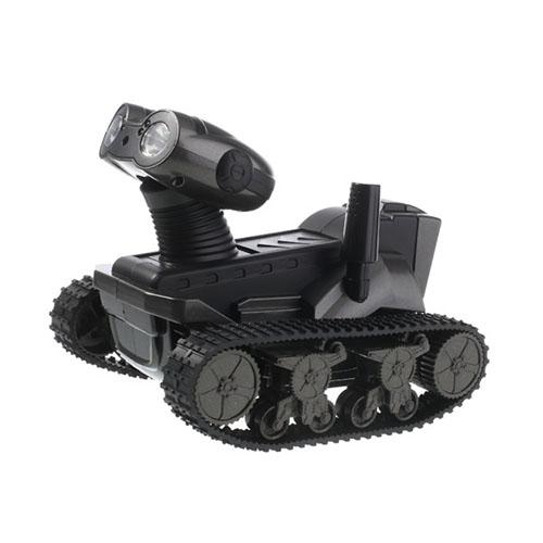 Spy Tank (Svart) Fjärrstyrd (WiFi) Kamera-Tank för Smartphones