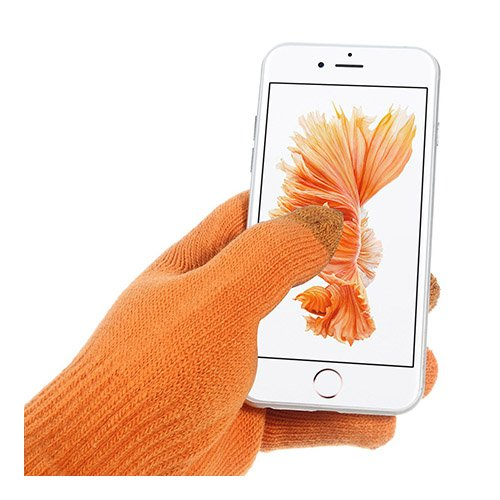 IGLOVE Sammanvävda Touch Screen Handskar – Orange
