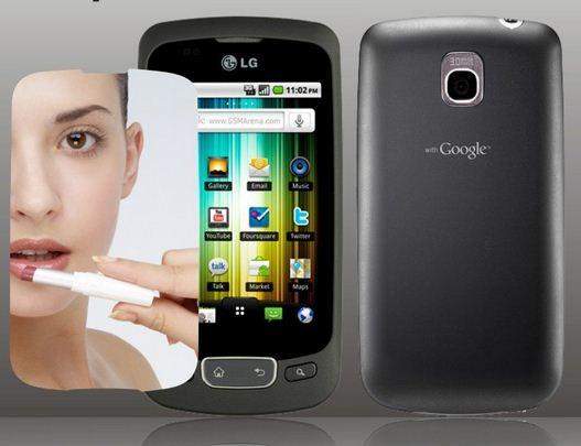 LG Optimus One Displayskydd (Spegel)