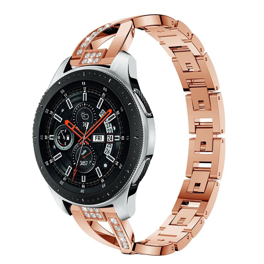 Samsung Galaxy Watch (46mm) X-shape alloy watch band - Rose Gold