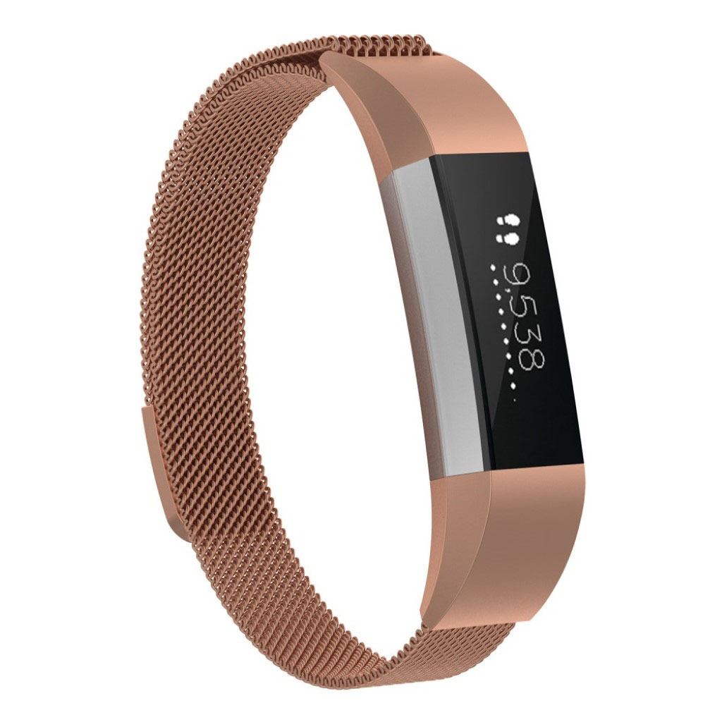 Fitbit Ace classic plating milanese watch strap - Rose Gold