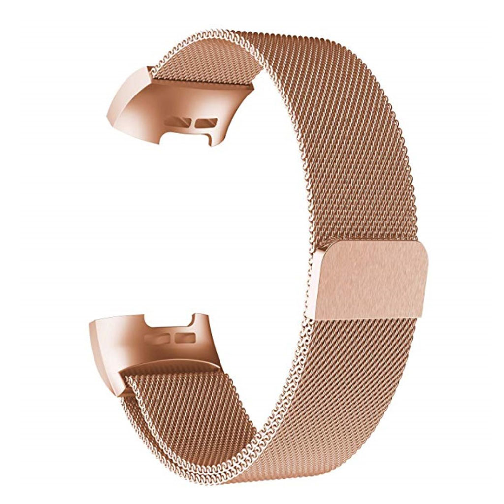 Fitbit Charge 3 milanese watch strap replacement - Rose Gold