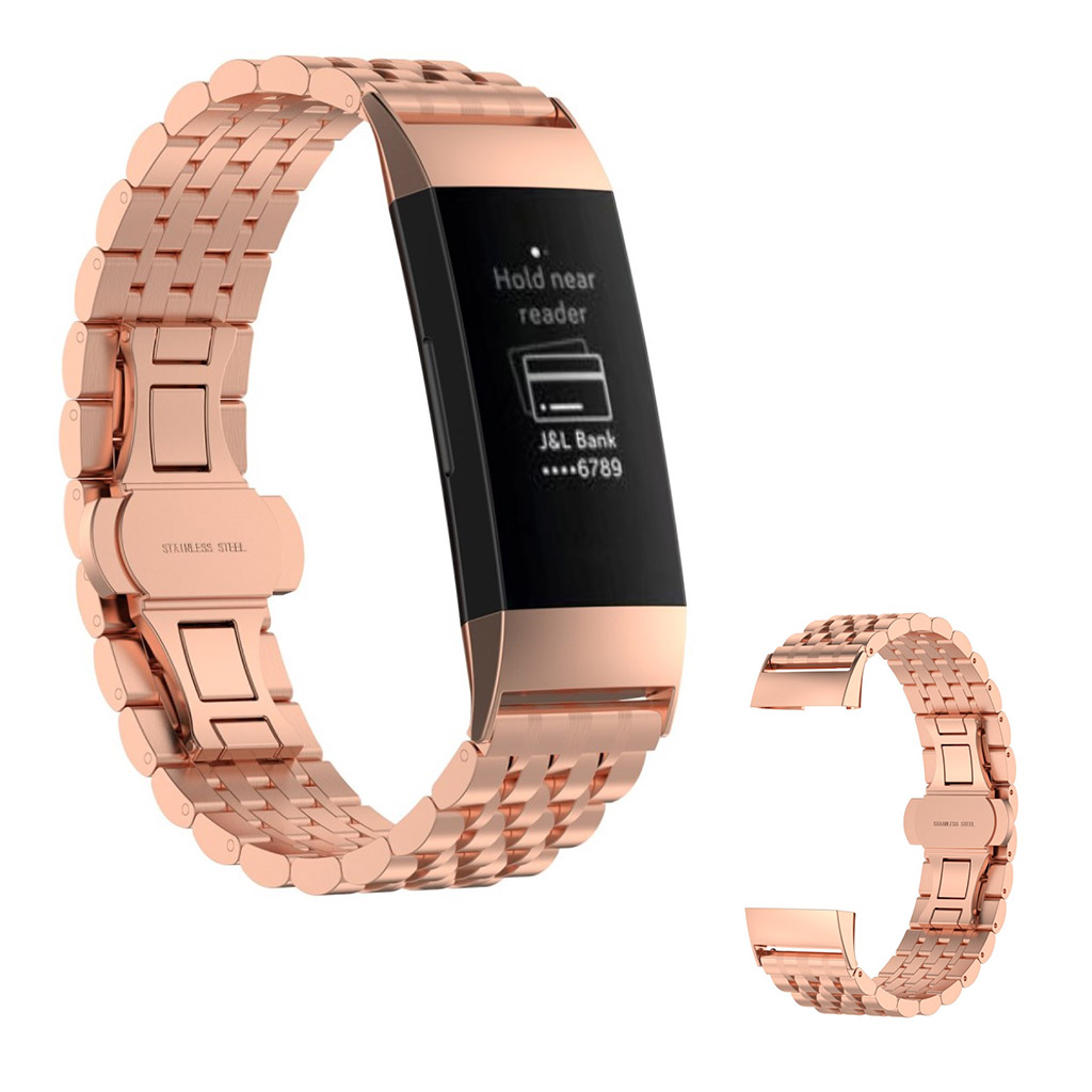 Apple Watch 42mm stylish stainless steel watch strap - Rose Gold