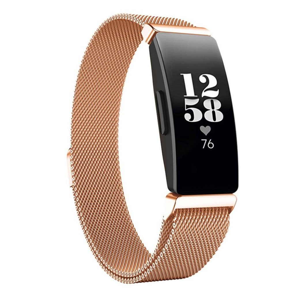 Fitbit Inspire / Inspire HR milanese stainless watchband - Rose Gold