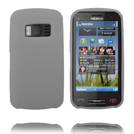 Mjukskal (Grå) Nokia C6-01 Skal