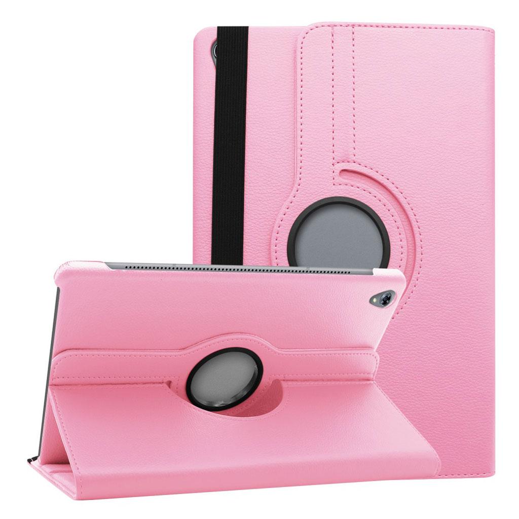 Huawei MediaPad M6 10.8 360 degree litchi grain leather case - Pink