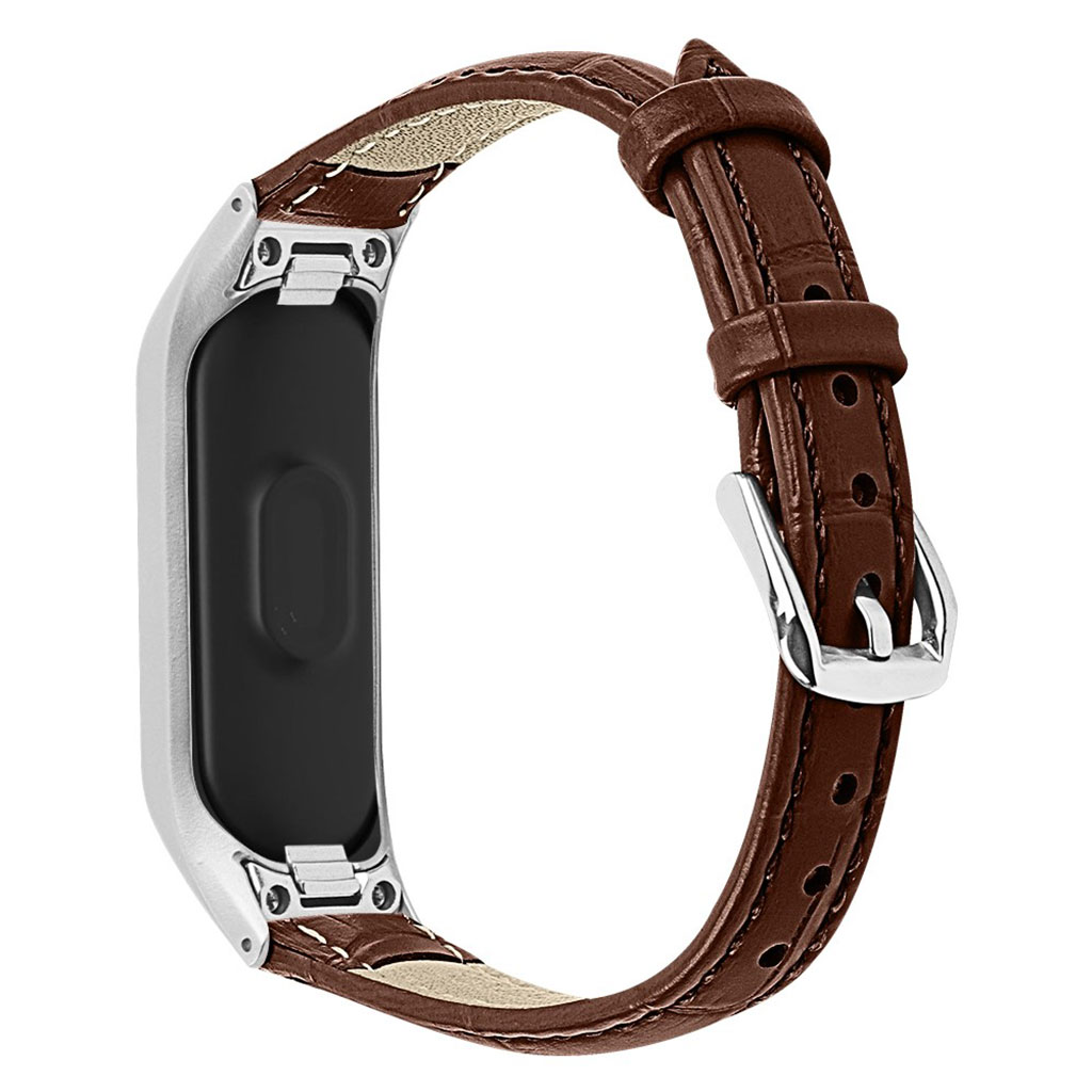 Samsung Galaxy Fit e crocodile texture leather watch band - Brown